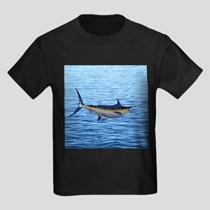 Blue Marlin on Water Kids Dark T-Shirt