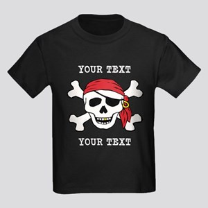 e619499de PERSONALIZE Funny Pirate Kids Dark T-Shirt