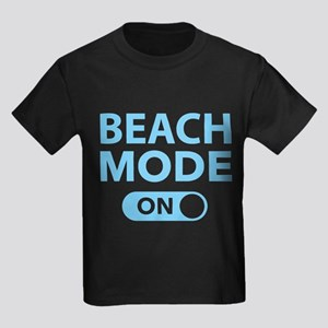 Beach Mode On Kids Dark T-Shirt