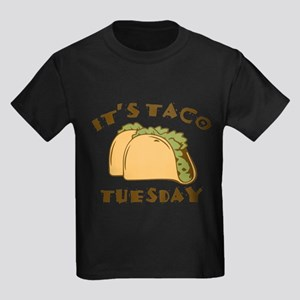 f2f3f5da It's Taco Tuesday Kids Dark T-Shirt