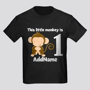 1st Birthday Monkey Personalized T Shirt