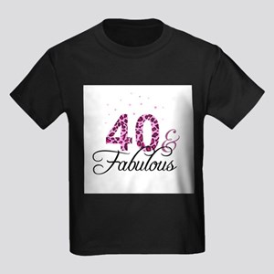 698985c63 Forty And Fabulous Kids T-Shirts - CafePress