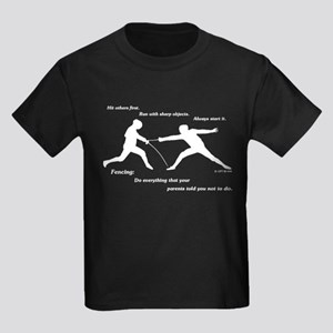 Hit First Kids Dark T-Shirt