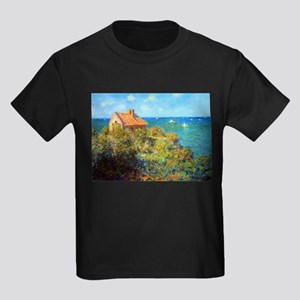 Claude Monet Fisherman's Cottage Kids Dark T-Shirt