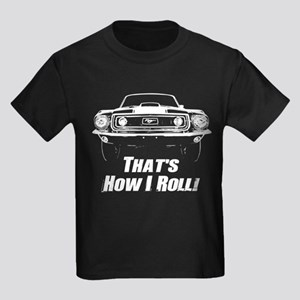 How I Roll - Mustang Boss Kids Dark T-Shirt