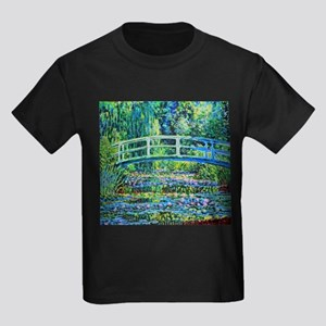 Monet - Water Lily Pond Kids Dark T-Shirt