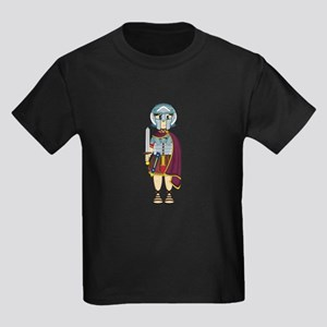 Cute Roman Gladiator Kids Dark T-Shirt
