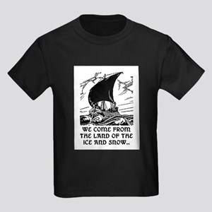 THE LAND OF ICE AND SNOW Kids Dark T-Shirt