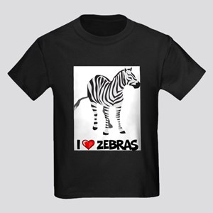 I Love Zebras Ash Grey T-Shirt T-Shirt