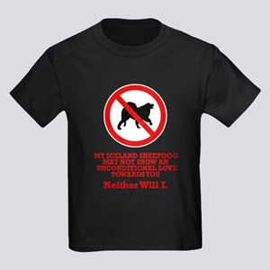 Iceland Sheepdog Kids Dark T-Shirt