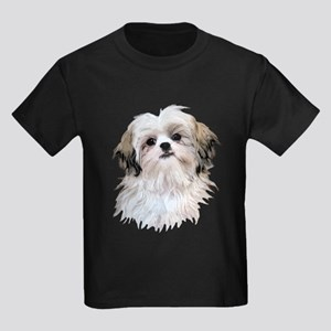 Shih Tzu Lover Kids Dark T-Shirt