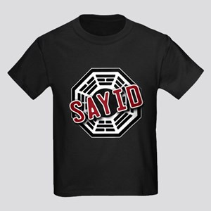 Sayid Dharma Logo from LOST Kids Dark T-Shirt