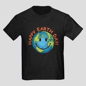 Happy Earth Day Kids Dark T-Shirt