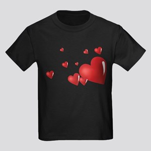 Hearts Kids Dark T-Shirt