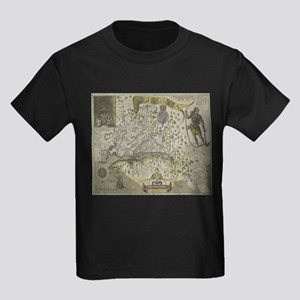 Vintage Map of Virginia (1618) T-Shirt