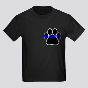 Blue Line K9 Paw Kids Dark T-Shirt