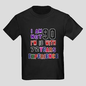90 Birthday Designs Kids Dark T-Shirt