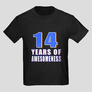 14 Years Of Awesomeness Kids Dark T-Shirt