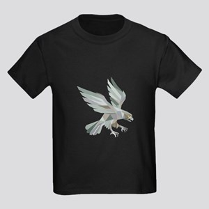Peregrine Falcon Swooping Grey Low Polygon T-Shirt