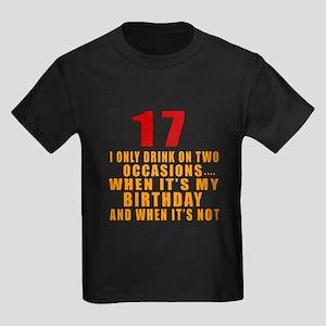 17 birthday Designs Kids Dark T-Shirt