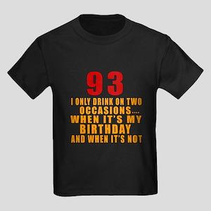 93 Birthday Designs Kids Dark T-Shirt