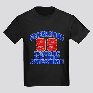 Celebrating 99 Years Of Being Aw Kids Dark T-Shirt
