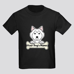 Personalized Alaskan Malamute Kids Dark T-Shirt