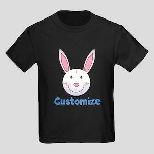 Custom Easter Bunny Kids Dark T-Shirt