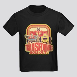 Transformers Retro Roll Out Kids Dark T-Shirt