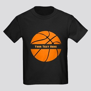 Basketball Personalized Kids Dark T-Shirt