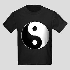 Yin & Yang (Traditional) Kids Dark T-Shirt