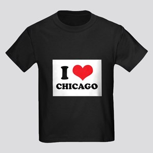 I Love (Heart) Chicago Kids Dark T-Shirt