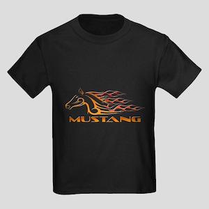 Mustang Tribal Kids Dark T-Shirt
