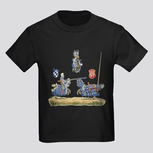 Knights Jousting Locks & Keys Battle Kids Dark T-S