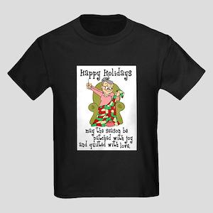 Happy Holidays - Quilter Kids Dark T-Shirt