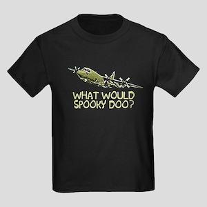 What would Spooky Doo?C-130 Kids Dark T-Shirt