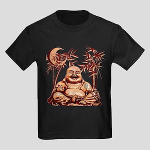 Riyah-Li Designs Happy Buddha Kids Dark T-Shirt
