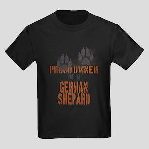 German Shepard Kids Dark T-Shirt