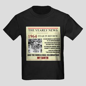 born in 1964 birthday gift Kids Dark T-Shirt