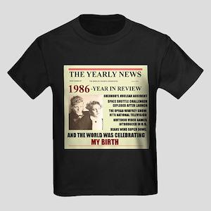 born in 1986 birthday gift Kids Dark T-Shirt