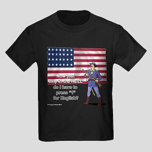 Press 1 for English Kids Dark T-Shirt