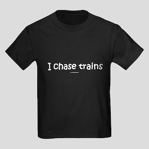I Chase Trains Kids Dark T-Shirt