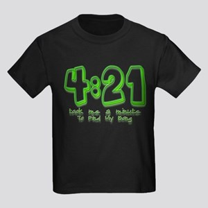 4:21 Funny Lost Bong Pot Desi Kids Dark T-Shirt