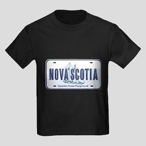 Nova Scotia Plate Kids Dark T-Shirt