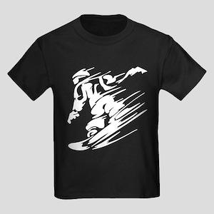 SNOWBOARDING! Kids Dark T-Shirt