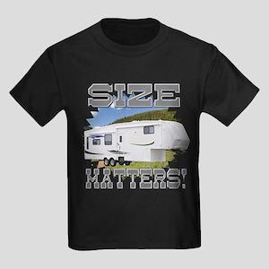 Size Matters Fifth Wheel Kids Dark T-Shirt