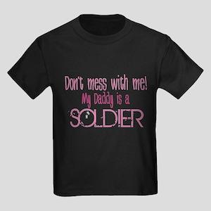 Don't mess with me - pink Kids Dark T-Shirt