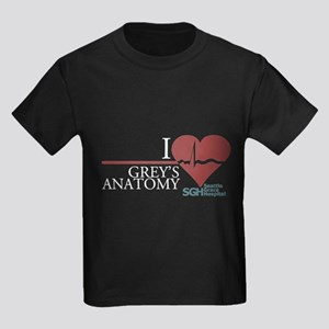 I Heart Grey's Anatomy Kids Dark T-Shirt