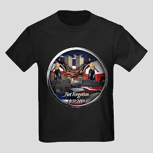 911 NOT FORGOTTEN Kids Dark T-Shirt