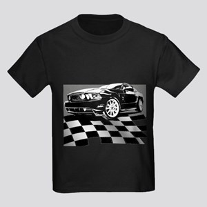 2011 Mustang Flag Kids Dark T-Shirt